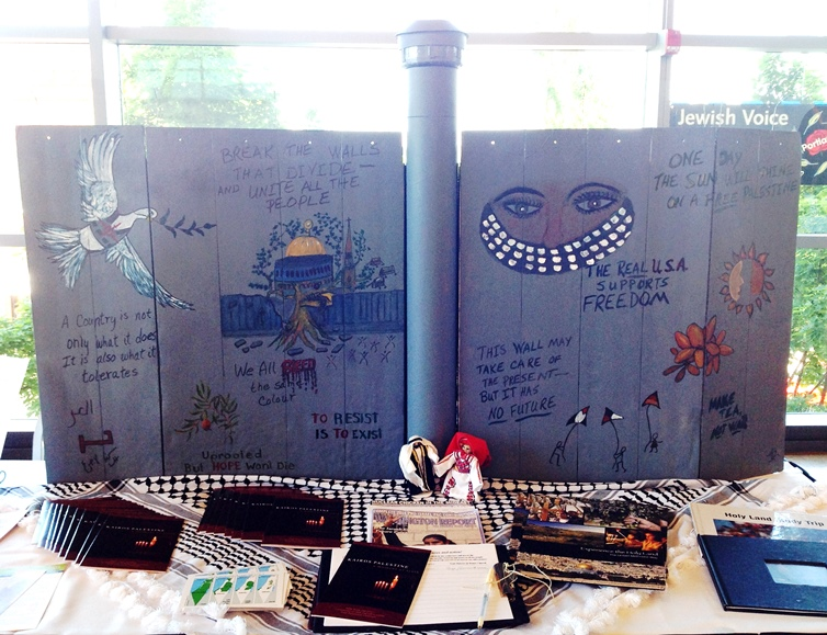 A Separation Wall display created for the United Methodist Church annual gathering of the Washington/Idaho Conference.